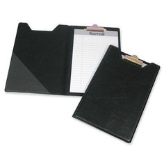 Samsill Corporation Pad Holder- w- Clip- Inside Pocket- Black Home Office Desks, Home Office Furniture, Personal Organizer, Paper Organization, Pocket, Black, Organizers, Planners, Products