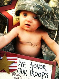 Too cute. I love having mason in marine stuff it's just so he knows how heroic his dad is!