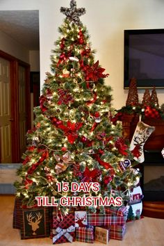 Country Christmas Trees, Elegant Christmas Trees, Tartan Christmas, Cabin Christmas, Christmas Tree Themes, Christmas Mood, Holiday Tree, Rustic Christmas, Christmas Tree Decorations