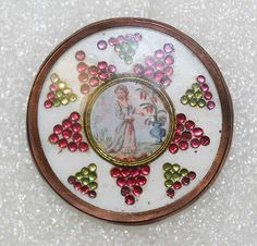 Button Date: ca. 1770 Culture: French Medium: ivory, mica, glass Dimensions: [no dimension available] Credit Line: From the Hanna S. Cool Buttons, Silver Buttons, Vintage Buttons, Sewing Baskets, Button Crafts, Sewing A Button, Vintage Sewing, Button Button, Vintage Antiques