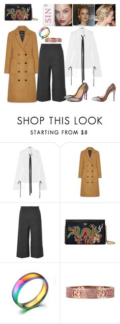 """""""#98"""" by tynabrookler ❤ liked on Polyvore featuring Ann Demeulemeester, Noir Kei Ninomiya, Christian Louboutin and Gucci"""