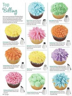 Flower buttercream piped cupcakes