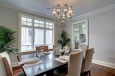 Simple elegance in this dining room. 195 Jones Street, Oakville