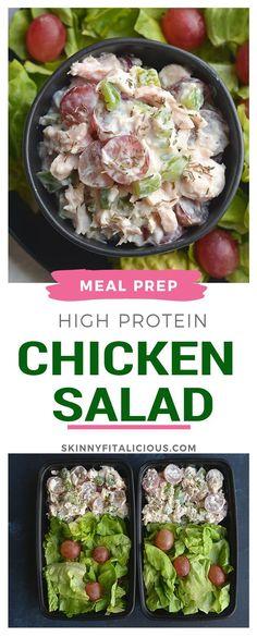 high protein chicken salad fitness and diet pinterest high protein chicken salad high protein and salad