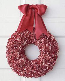 Holiday Carnation Wreath  Step aside, holly and mistletoe -- or at least make room for something new. The carnation is a surprisingly elegant and easygoing choice for holiday displays.