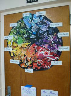 """mpinaire: """" The first of the color wheels is completed! (Besides my missing red-orange label) I love having students involved in making our class posters and resources. They seem to be more invested in it. Eventually, I'll have nine of these from..."""