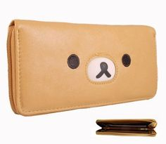 "Rilakkuma Bear Multi Compartment Wallet by Rilakkuma. $14.95. *Brand new * Measures approximately 8"" x 4"" x 1"" Includes mutiple compartments and slots for bills, credit cards, ID, and coins *Made with vinyl/plastic material"