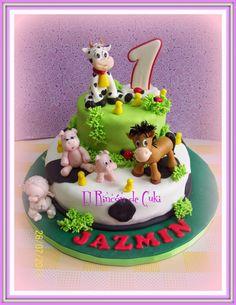 EL RINCON DE CUKI - TORTAS ARTESANALES: TORTA ANIMALITOS DE GRANJA Cowboy Birthday Party, Baby Boy Birthday, Farm Birthday, Animal Birthday, Birthday Parties, Birthday Cake, Farm Animal Cakes, Jungle Cake, Farm Cake