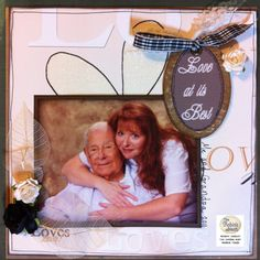 A Grandpas love by Wendy Cusky. She used our wedding tag kit on this wonderful layout. www.chatteringrobins.blogspot.com #scrapbooking #love #grandpa #scrapbook #tagkits #lovesme #dewdrops #robinsnest