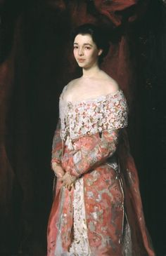 Mrs. Leopold Hirsch (in a dress based on 18th century costume), John Singer Sargent, 1902; TC L01713