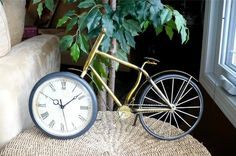Excellent gift for a cyclist. Nice clock for bedroom or mantle. Check out our store for some unique gift and home ideas.