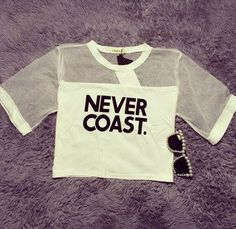 Never Coast crop top – SEKclothing