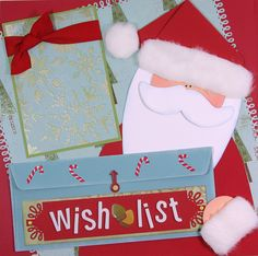 Image detail for -12 x 12 Premade Scrapbook Layout Pages Christmas Wish List Santa