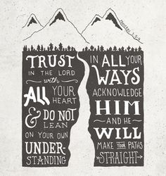 Proverbs 3:5-6 | Hand Lettering Co.