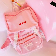 Harajuku+&+Fashion+red+heart+canvas+backpack+with+purse. We+offer+FREE+and+USPS+shipping+for+USA+and+China+Post+for+any+other+country+in+the+world.+Customer+service+is+included+in+the+price+too! Kawaii Bags, Kawaii Clothes, Canvas Backpack, Backpack Bags, Black Handbags, Leather Handbags, Fashion Bags, Fashion Backpack, Bags For Teens