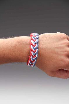 Red/White/Blue Braided Bracelet.