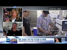 "Jane Velez Mitchell Segment: Hampton Creek Founder & CEO, Josh Tetrick, speaks on ""Issues with Jane Velez-Mitchell."". R & D backed by Bill Gates, ""Future of Food"". creek food, egg"