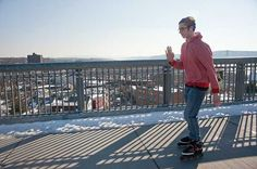 Rollerblading on the Walkway Over the Hudson, spanning the Hudson River between Highland and Poughkeepsie, NY  (Photo - ROY GUMPEL)