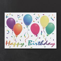Colorful Balloons Business Birthday Greeting Cards personalized! http://partyblockinvitations.occasions-sa.com/Stationery--Business-Greetings/Birthday-Cards/YWCCS-YW3CA3016-Birthday-Balloons.pro