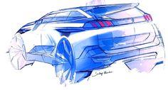 Peugeot 5008 Design Sketch by Sandeep Bhambra