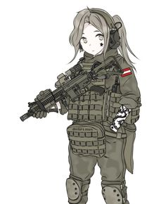 Funny Military, Anime Military, Military Girl, Comic Pictures, Manga Pictures, Art Template, Manga Comics, Art Drawings Sketches, Anime Style