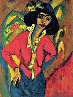 1914 Ernst Ludwig Kirchner (German Expressionist, 1880-1938) Gerda