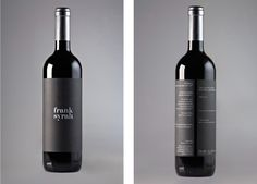 Packaging of the World: Creative Package Design Archive and Gallery: Frank Syrah  wine / vino mxm