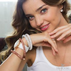 Start the new year with a little sparkle, like muse Miranda Kerr, layering Stardust bangles with your Swarovski watch. What colours are your favourites?
