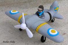 Vliegtuig van vilt