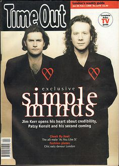 Time Out - gennaio 1995 Time Out Magazine, Jim Kerr, Simple Minds, Motown, Fashion Plates, Mindfulness, Image, Musica, Fashion Illustrations