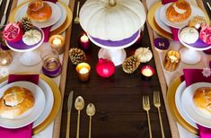 Colorful Thanksgiving table setting idea #anthropologie #remodelista #pintowin