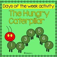 Days of the week activity Math Activities, Teacher Resources, Days Of The Week Activities, Star Students, Cooperative Learning, Very Hungry Caterpillar, Cut And Paste, Fifth Grade, Student Engagement