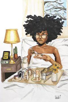 Black Art Painting, Black Artwork, Black Love Art, Black Girl Art, African American Tattoos, African American Artwork, Afro Tattoo, Pelo Afro, Brown Art