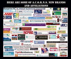 VOTER FRAUD BY THE LEFT.....HOW THE NEW ACORN PLANS TO STEAL THE ELECTION...............ACORNS NEW BRANDS.....THEY WILL USE SOME OF THESE TO TRY TO STEAL THE ELECTION IN 2012