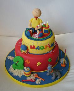 ruca Cake Design, Caillou, Little Pigs, Birthday Cake, Party, Desserts, Ideas, Food, Anniversary Cakes