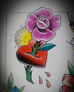 Desenho disponível... Valor camarada de R$250,00 porque estou muito afim de fazer esse trampo.... Informações direct, inbox ou whats (11) 98804-2846  #tattoo #tatuagem #rosa #coracao #tattoo2me #tguest #newhopetattoo #robnagata