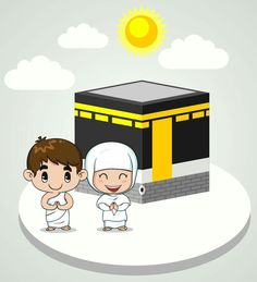 Hajj Ramadan Crafts, Ramadan Decorations, Happy Eid Al Adha, Eid Mubarak Greetings, Eid Cards, Islamic Cartoon, Kids Background, Islam For Kids, Cartoon Clip