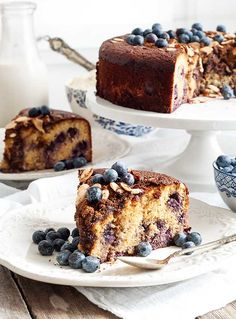 Blueberry Almond Coffee Cake {Gluten-Free Paleo}   Simply Gluten -Free