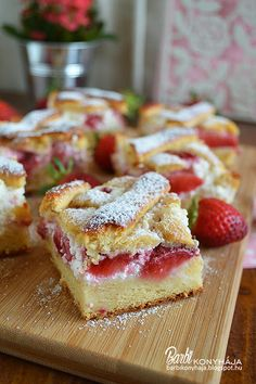 Sweets Recipes, French Toast, Barbie, Breakfast, Cake, Squares, Food, Morning Coffee, Bobs