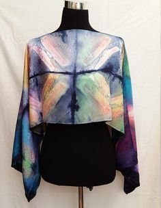 3 in 1: Scarf shrug blouse and poncho in by SlowFashionSilk