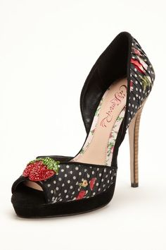 Cece L'Amour  Juls Peep Toe Pump  Retails for $150.00.  Sexy and cute.