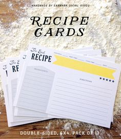 Do you use recipe cards these days? I cannot get enough of them. Something so nostalgic about digging through my recipe books in search of the right meal! When I was making these cards I made sure to provide plenty of space to write out a full recipe! #recipecards