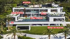 The most expensive house ever listed in the United States (pictured) hit the Bel Air, Los ...