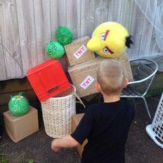 Giant angry bird game