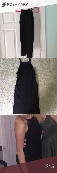 Black body con dress Adorable LBD in great condition! Only worn once. Fits true to size, has cut outs along ribs. Perfect for a night out! Missguided Dresses