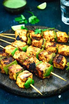 Achari Paneer tikka is a delicious starter made with paneer (Indian Cottage Cheese) marinated in an achari (Pickle spices) marinade. The soft and juicy morsels of paneer coated with spicy and tangy masala is a delight to eat. Paneer Recipes, Curry Recipes, Indian Food Recipes, Vegetarian Recipes, Cooking Recipes, Healthy Recipes, Indian Snacks, Cheese Recipes, Paneer Tikka