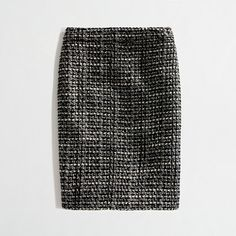 J CREW FACTORY No. 2 pencil skirt in graphite tweed - This FACTORY 00P fits EXACTLY like the regular J CREW multi-colour purple tweed pencil skirt in 00P