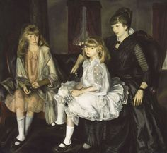 George Bellows (American, Columbus, Ohio 1882–1925 New York City). Emma and Her Children, 1923. Oil on canvas