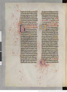 Titre : Breviarium secundum ordinem Cisterciencium , dit Bréviaire de Martin d'Aragon Date d'édition : 1380-1450 Rothschild 2529 (16 b ) 90v