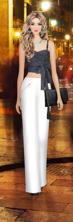 At all nightlife! Fasion, Women's Fashion, Fashion Outfits, Covet Fashion Games, Girly Pictures, Fashion Illustrations, Nightlife, Divas, High Waisted Skirt